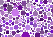 Hexagonal purple Stock Photo