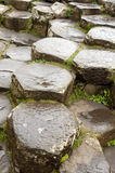 Hexagonal rocks at Giants Causeway, Northern Ireland. The Giants Causeway in Northern Ireland is a world heritage site. This image shows the predominantly Royalty Free Stock Photography