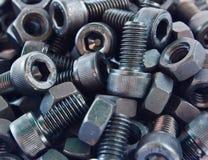 Hexagonal screws in the industry Stock Images