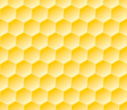 Hexagonal seamless geometric pattern with honeycombs Stock Image