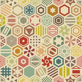 Hexagonal seamless pattern Stock Photos
