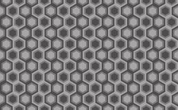 Hexagonal seamless pattern. Greyscale. Industrial texture, vecto Stock Image