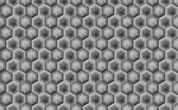 Hexagonal seamless pattern. Greyscale. Industrial texture, vecto Stock Images