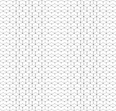 Hexagonal seamless pattern with lines and dots, modern stylish vector texture Stock Photos