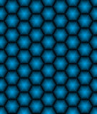 Hexagonal seamless vector pattern. Hexagonal seamless pattern. Geometric vector background in blue color Stock Photo