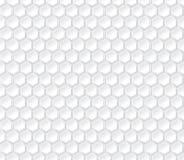 Hexagonal seamless vector pattern. Light gray hexagon with 3d effect Stock Image