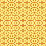 Hexagonal Shape Random Pattern Seamless. With Orange Color Stock Photography