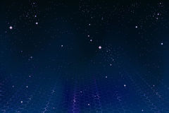 Hexagonal space background Stock Photo