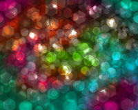 Hexagonal and spherical bokeh. Can be use as  background Stock Photography