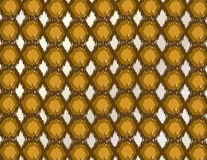 Hexagonal spots in shades of brown to ocher. Royalty Free Stock Photos