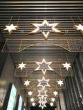 Hexagonal star shaped chandelier stock photos