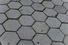 Hexagonal Stone ground using by pattern Royalty Free Stock Photography