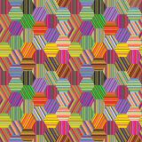 Hexagonal stripes patchwork royalty free stock photography