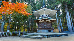 Hexagonal Sutra Repository at Danjo Garan Temple in Koyasan area in Wakayama Stock Photos