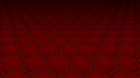 Hexagonal technological perspective background   illus Royalty Free Stock Image