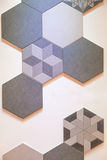 Hexagonal tile mosaic background design Royalty Free Stock Photography