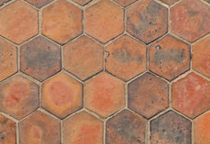 The hexagonal tiles Royalty Free Stock Images