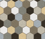 Hexagonal tiles. Patchwork. Seamless texture Royalty Free Stock Image