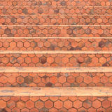 Hexagonal tiles stairs Stock Images