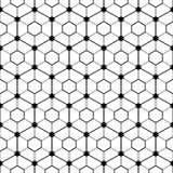 Hexagonal tilled pattern. Stock Photos