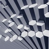 Hexagonal tubes high angle view of pattern Royalty Free Stock Photos