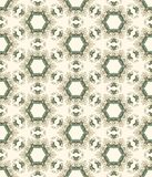 Hexagonal vintage seamless beige and blue pattern Royalty Free Stock Image
