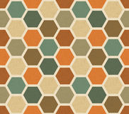 Hexagonal vintage vector seamless pattern Royalty Free Stock Photo
