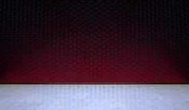 Hexagonal Wall with Marble Floor Stock Photo
