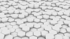 Hexagonal wall pattern stock video footage