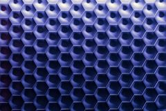 Hexagonal wall texture surface. Blue Gradient abstract pattern background. Stock Photography