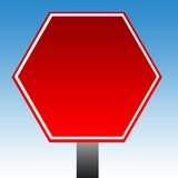 Hexagonal warning sign Stock Photo