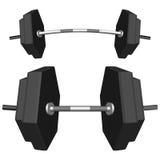 Hexagonal weights Stock Images
