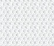 Hexagonal white seamless background Royalty Free Stock Photos