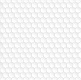 Hexagonal white seamless pattern Royalty Free Stock Photography