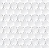 Hexagonal white semless background with 3d effect Royalty Free Stock Photography