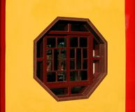 Hexagonal Window Royalty Free Stock Photos