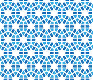 Hexagonal winter pattern with stylized snowflakes Stock Images