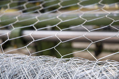 Hexagonal Wire Mesh Stock Photography