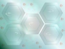 Hexagonale abstracte achtergrond Stock Foto