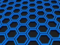 Hexagonale achtergrond royalty-vrije illustratie