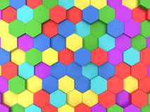 Hexagonale achtergrond Royalty-vrije Stock Afbeeldingen