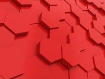 Hexagonale achtergrond Royalty-vrije Stock Afbeelding