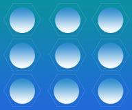 Hexagonale Cellen met Gebieden Abstracte Achtergrond vector illustratie