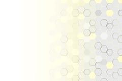 Hexagonale 3d abstracte achtergrond Stock Fotografie