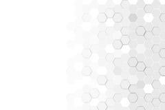 Hexagonale 3d abstracte achtergrond Royalty-vrije Stock Afbeeldingen