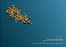 Hexagonale decoratie Stock Afbeelding