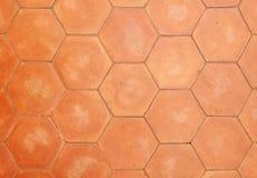 Hexagonale kleitegels Royalty-vrije Stock Foto
