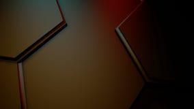 Hexagonale lichtenmotie royalty-vrije illustratie