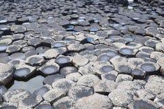 Hexagonale rotstextuur Stock Fotografie