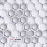 Hexagondesignhintergrund Stockfotografie